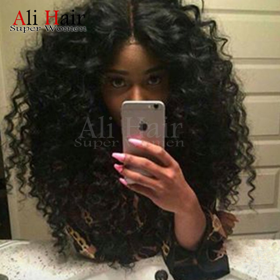 Fashion Glueless Heat Resistant Long Black African American Kinky