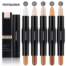 Face Concealer Highlight Make Up Contouring Makeup Hide Blemish Correct Creamy Double Color Bronzer Stick 5 color for choose