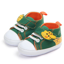 0-18M canvas baby shoes boys soft sole toddler infant