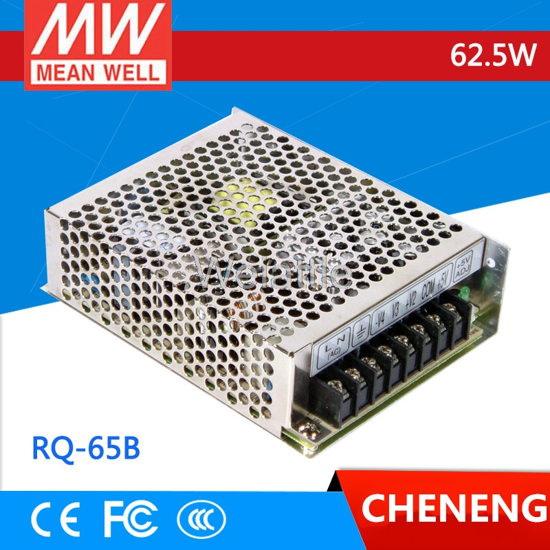 MEAN WELL +5V 8A +12V 3A -5V 1A -12V 1A RQ-65B 62.5W Drive Quad Output Switching Power Supply AC-DC RQ-65 2pcs omron power relay g5nb 1a e 5vdc g5nb 1a e 12vdc g5nb 1a e 24vdc g5nb 1a e 5v 12v 24vdc 5a 4pins a group of normally open