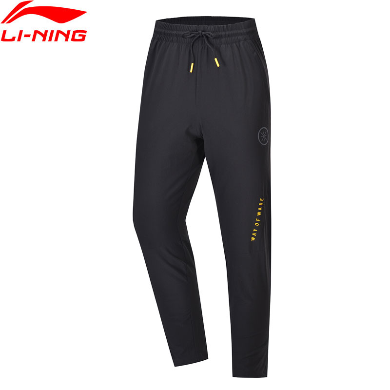 Li-Ning Men Wade Pants 86%Nylon 14%Spandex Regular Fit With Drawcord Pocket LiNing Li Ning 3D Fitting Sport Pants AYKP057 MKY488