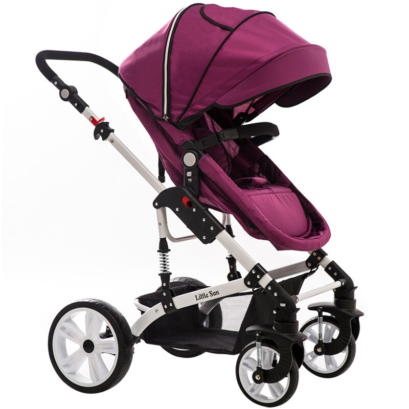 Baby Stroller Can Sit And Lie The High Landscape Four Wheel Shock Proof Ultra Wide Two-way Baby Cart And General Umbrella Carts baby stroller high landscape four wheel shock cart can sit can lie