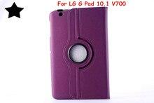 """Para LG G de 10.1 V700 Gpad 10.1 """"tablet case 360 grados de rotación ultra delgado litchi patrón de cuero de la pu case cubierta del tirón"""