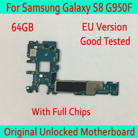 For Samsung Galaxy S8 G950F Original unlocked Motherboard 64GB,with Android System EU Version for Galaxy S8 G950F Logic boards