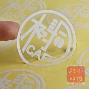 Image 3 - Custom Logo White color printing on Clear PVC/ Kraft paper