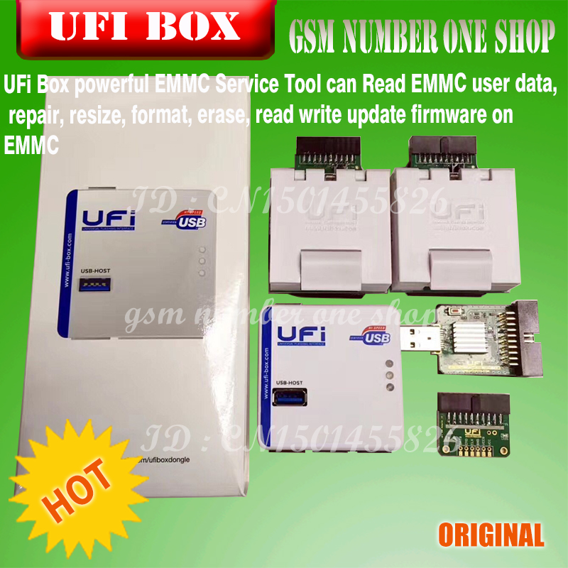 US $309 0 |2019new original UFI Box power ufi Box ufi tool box ful EMMC  Service Tool Read EMMC user data, as well as repair, resize, format-in  Telecom