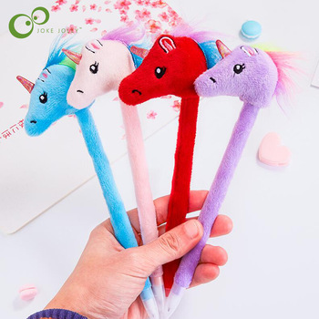Plush Unicorn Head Ballpoint Pen