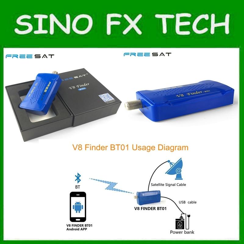 Портативный <font><b>bluetooth</b></font> mini спутниковый Finder метр след от мобильного телефона Android Системы приложение для DVB <font><b>S2</b></font> freesat V8 Finder BT01