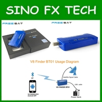 Portable Bluetooth Mini Satellite Finder Meter Track By Cellphone Android System App For Dvb S2 Freesat
