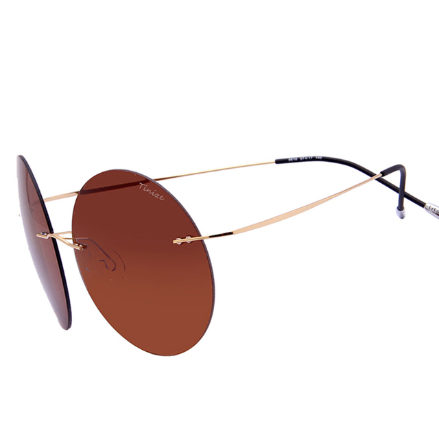 6ca9d340fef Clearance Sale Items Titanium Alloy Rimless Sun Glasses Men Women Brand  Designer Ultralight Round Polarized Sunglasses