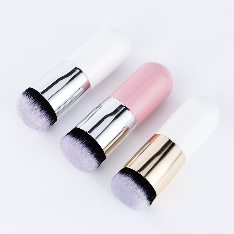 HOLD LIVE 1 Pcs Liquid Foundation Brush for Face Makeup Beauty New Chubby Pier Foundation Brush Flat BB CC Cream Makeup Brushes