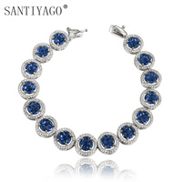 Fashion boutique jewelry copper plating white gold bracelet with 4 kinds of zircon colors Wedding Jewelry Bracelet Women