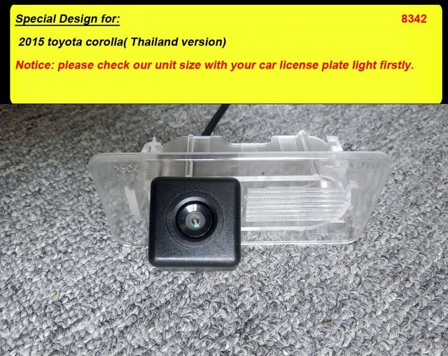 For 2015 toyota corolla( Thailand version) CCD car rear view back up reverse parking camera HD waterproof wireless LCD screen