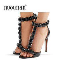 купить Brand Women Sandals Summer High Heel Shoes Woman Thin Heels Lady Pumps Party Strap Lady Wedding Shoes Sexy Dress High Heels дешево
