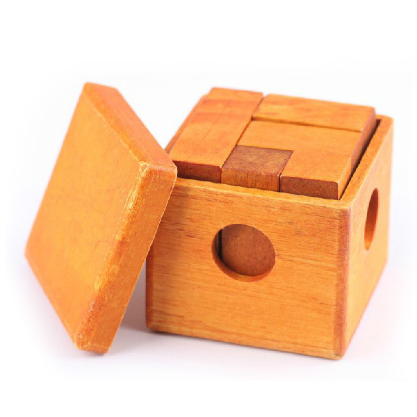 Free shipping kids Bag mail boxed cube ruban lock series, one piece intelligence adult wooden toys