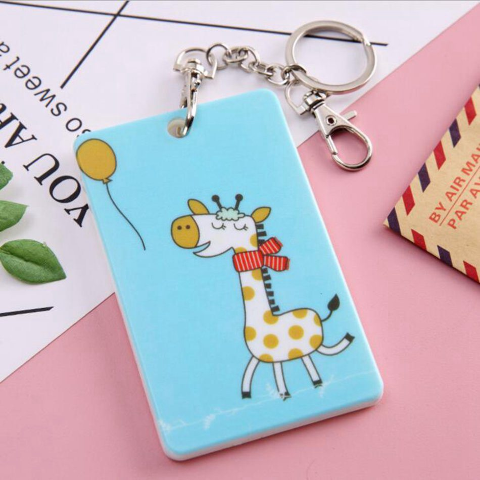 Cartoon Credit Card Holder Cover Case Women PVC Cute Kids Bank ID Card Bag Wallet Female Porte Carte Passport Cover Kaarthouder in Card ID Holders from Luggage Bags