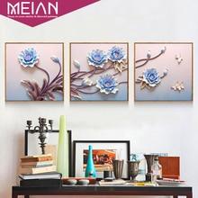 Алмазная живопись Meian «сделай сам», вышивка «Нефрит», полная вышивка крестиком, Алмазная мозаика, картина из бисера, алмазная домашний декор