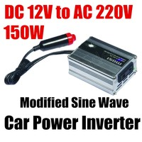 Wholesale DC 12V to AC 220V 150W Modified Sine Wave USB charger Car Power Inverter converter voltage transformer
