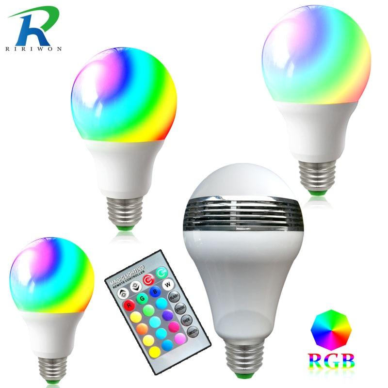 RiRi won LED Bulb Light Lamps E27 SMD2835 RGB 220V Real 3W 5W 7W 9W Power High Brightness Lampada LED Bombillas led light