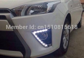 for Toyota YARIS DRL YARIS L Daytime Light bumper driving fog lamp cover  Car Styling LED Light New YARIS LED DRL 2014-2015