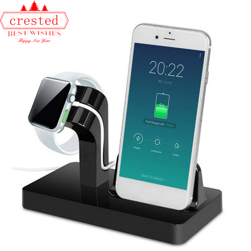 2in1 Stand For Apple Watch 5 4/3/2/1 Charger Iwatch Band IPhone X 8 7 7/8 Plus 6S 6 Plus 6S 5S Magnetic Charger Station