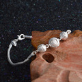 Jemmin New Hollow Out Beads Strand Bracelets Genuine 925 Sterling Silver With Lobster Clasps Bangles Jewelry Fast