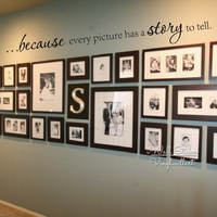 Photo Wall Quotes Wall Sticker Quote Decals High Quality Cut Vinyl Photo Walls Removable Wall Decors