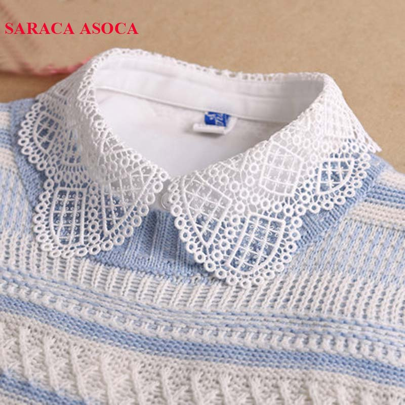 Fashion Detachable Collars Women All Match Sweater Shirt Fake Collar For Girls A236
