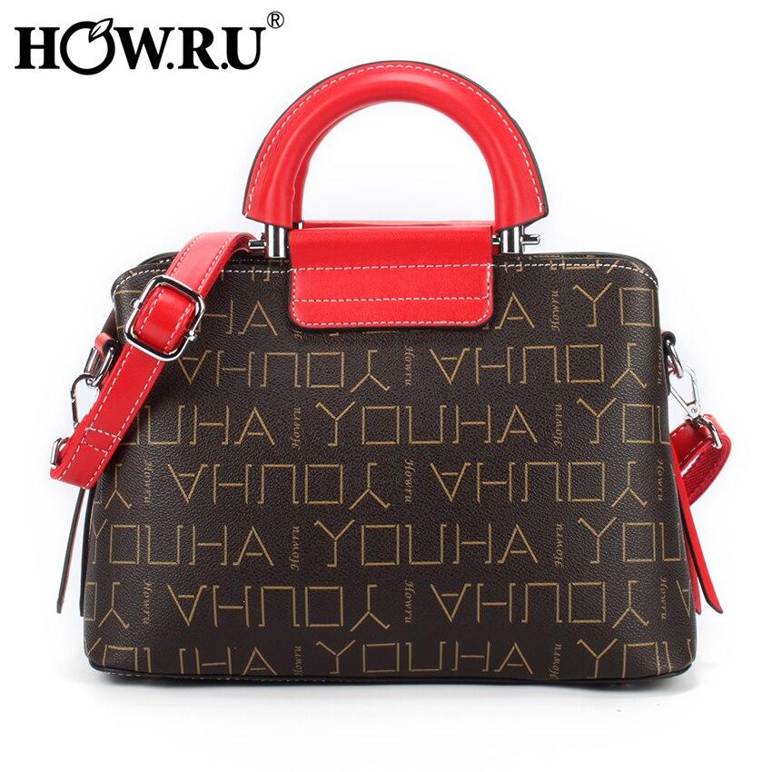 HOW R U High Quality Luxury Handbags Designer Women s Bag Elegant Ladies Tote Shoulder Bag