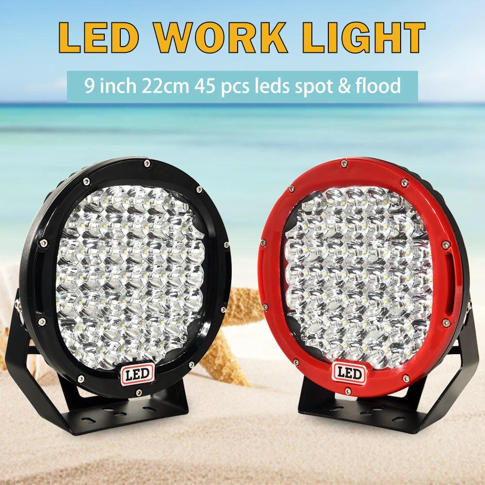9 Inch Led Work light for Off Road 4x4 4WD ATV UTV SUV Driving Motorcycle Light Truck Led Light Bar Auto Lamp