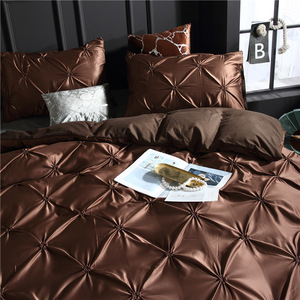 Image 2 - LOVINSUNSHINE edredón juegos de cama doble edredón conjunto King Size Luxury Silk edredter Cover AC03 #