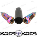 Universal  Steel  Neo chrome Wheels Rims Lug Nuts With Spike Extended Tuner Nut M12 x 1.5