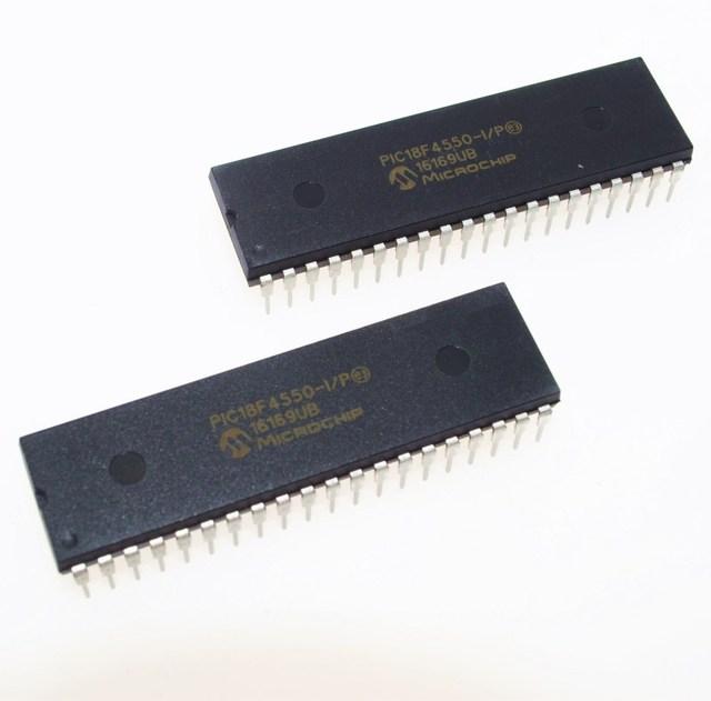 PIC18F4550 I/P PIC18F4550 18F4550 USB Microcontrollers DIP40 IC PIC MCU FLASH 16KX16 NEW