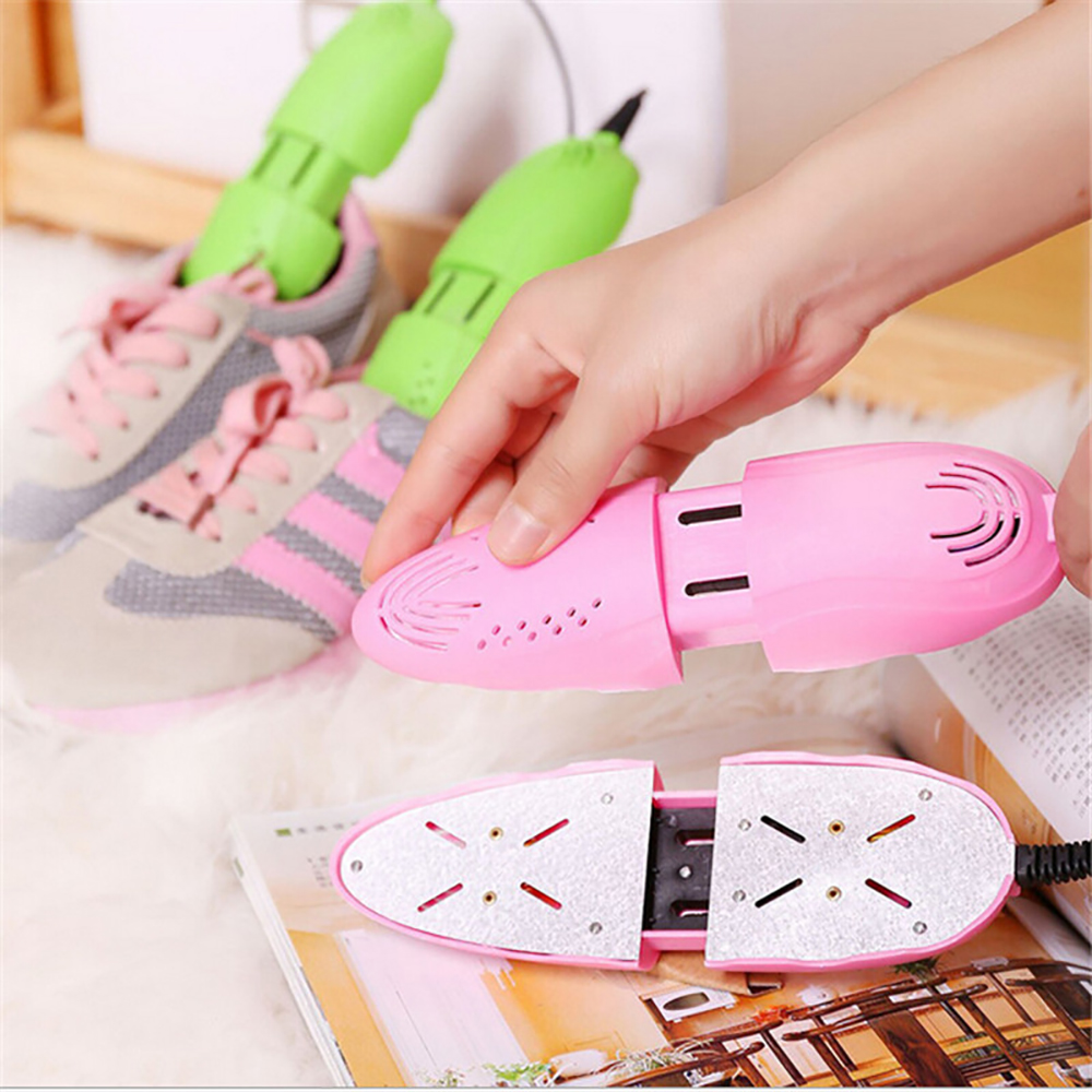Cute Retractable Boot Shoe Dryer 220V Bake Shoes Dryer Machine Dehumidification Deodorant Sterilization Winter Shoe Heater Drier itas1103 intelligent shoe drying machine bake shoe dryer deodorization sterilization multifunctional warm machine free shipping