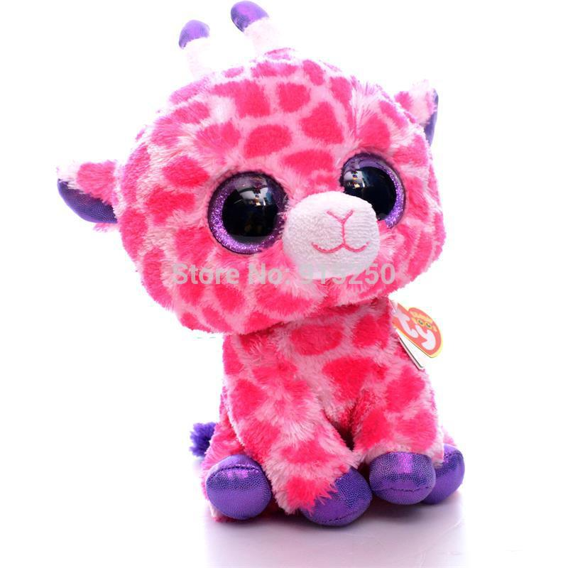 8833156769b 5   Big Official TY Pink Giraffe Plush TY Collection Stuffed Animal Key  Chain Beanie Babies Toy Doll  LNF-in Stuffed   Plush Animals from Toys    Hobbies on ...