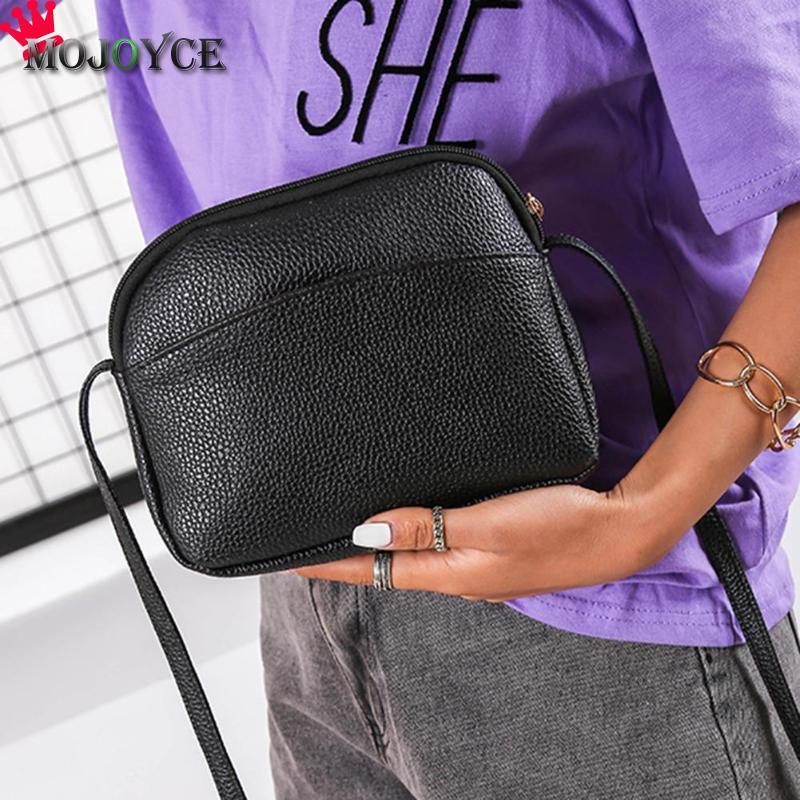 Women PU Leather Messenger Handbags Shell Shoulder Crossbody Bag Solid Small Bags for Women 2020 Sac a Main Ladies Hand Bag 3