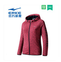 Erke Women's Sports Jacket Student Indoor Training Suit 2018 Autumn New Women's Slim Knit Jacket