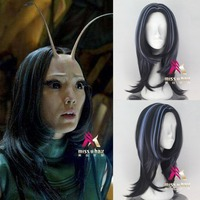 Movie Guardians of the Galaxy Mantis wig Accessories Play Hair Avengers Comic Cosplay Marvel Halloween Synthetic Wigs+wig cap