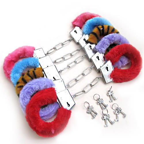 Hot Sale 6 Colors Toy Sexy Soft Steel Fuzzy Furry -1031