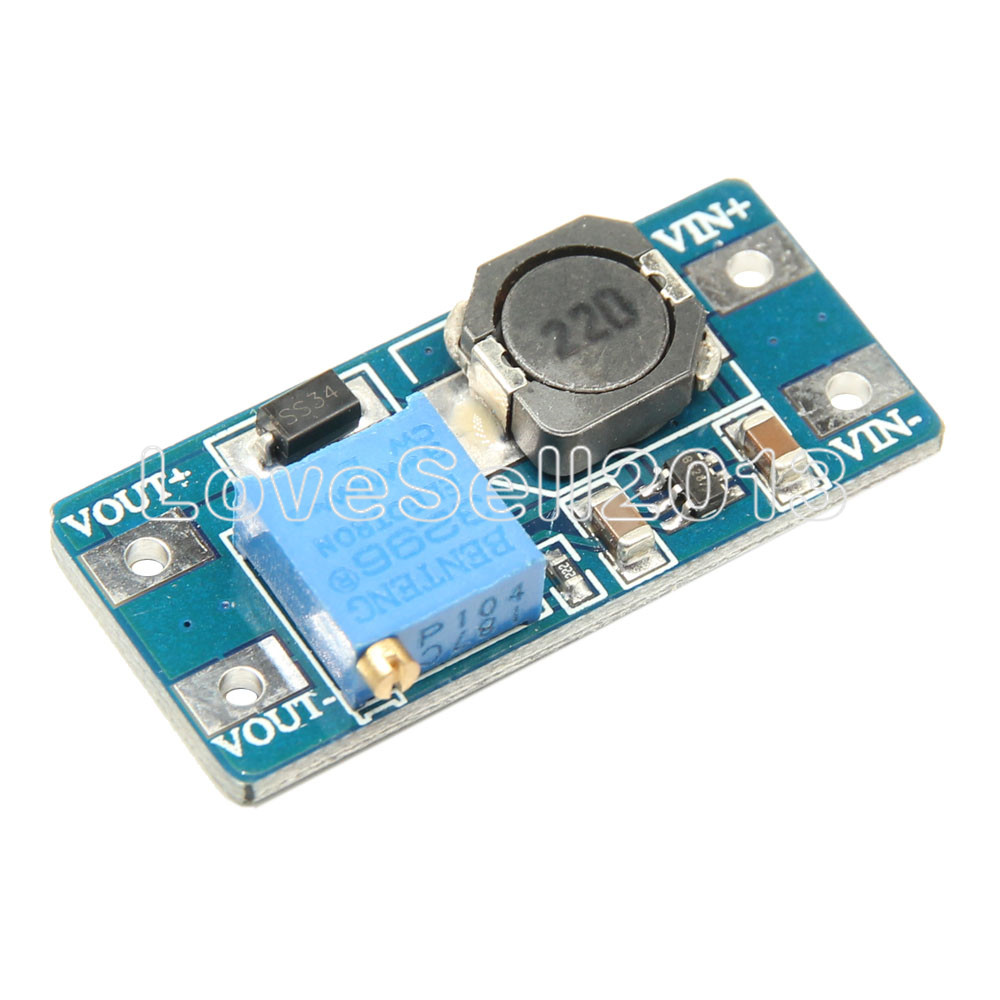 5PCS MT3608 DC-DC Step Up Converter Booster Power Apply Module Booster Power Module MAX Output 28V 2A For Arduino