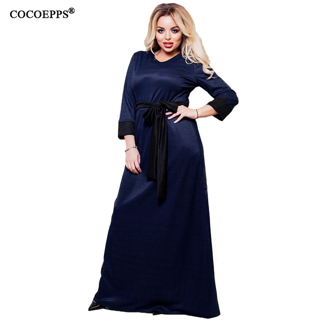 9afba85e712 2018 Big Size Women Dress Long Robe Plus Size Maxi 5xl 6xl Spring Dress  Evening Party Elegant Dresses Large Size Ladies Clothing