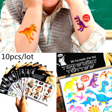 10 sheets Cartoon Temporary Tattoo Sticker Baby Shower Kids Body Art Novelty Gag Toys Waterproof 2-3 Days BUY GET 2 FREE