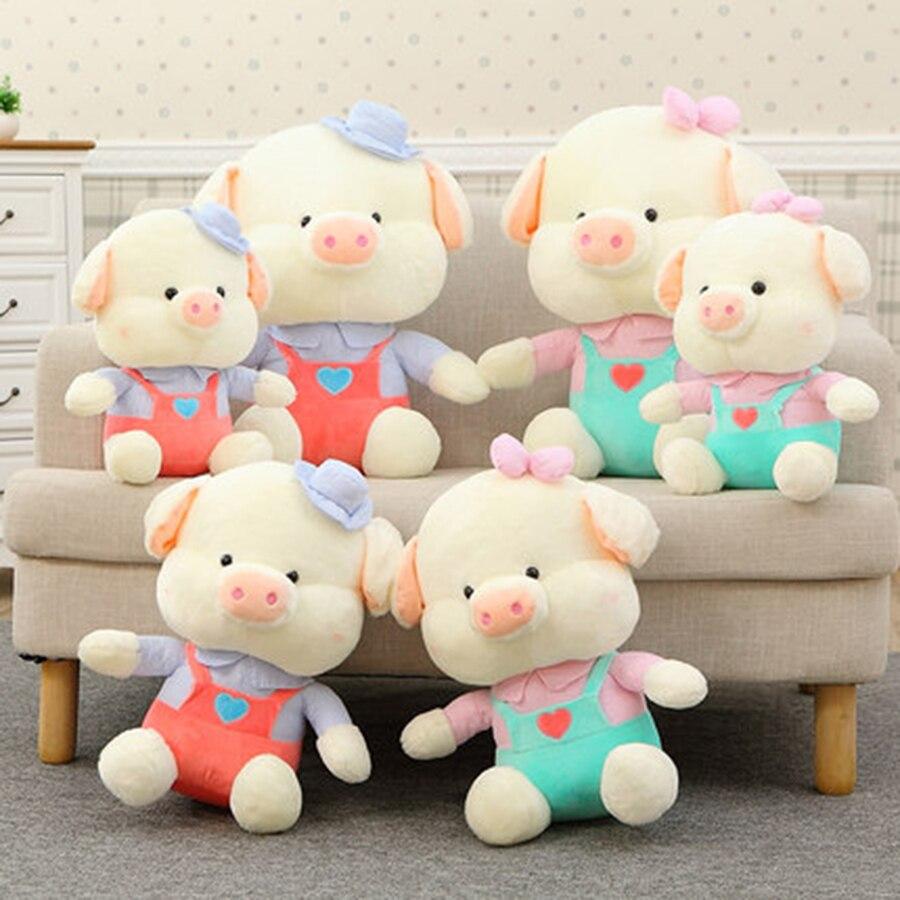 Розовый поросенок чучело Плюшевые Игрушки для маленьких Обувь для девочек Подарки на день рождения свадьба вещи милые мягкие Животные для ...