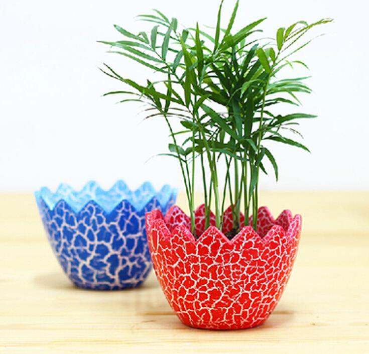 Fabulous Multicolor DIY Ceramic Egg Shell Shaped Garden Plant Pots Home  OI97