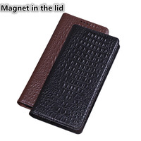 QH01 Genuine leather magnet phone case for Xiaomi Redmi 6 Pro(5.84') case for Xiaomi Redmi 6 Pro flip case with kickstand