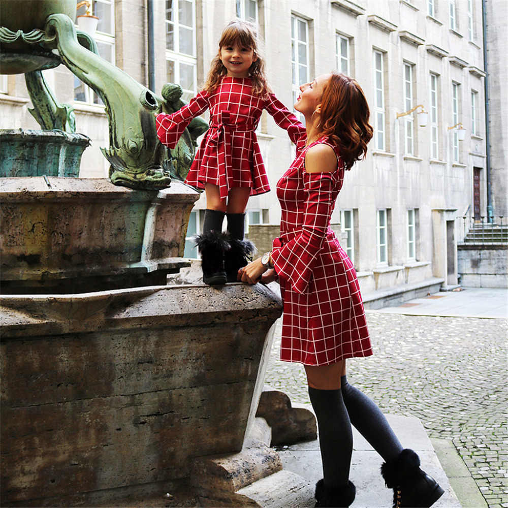 95ddf92e4f163 New Mommy And Me Clothes Family Look Dress Mom And Daughter Matching ...