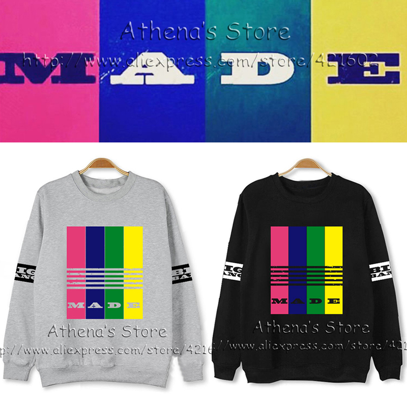 COTTON YG 2016 K POP Bigbang GDragon TOP MADE world tour VIP Sweatshirts bigbang kpop clothing Various Color Hoodie UNISEX shirt - Athena 's store