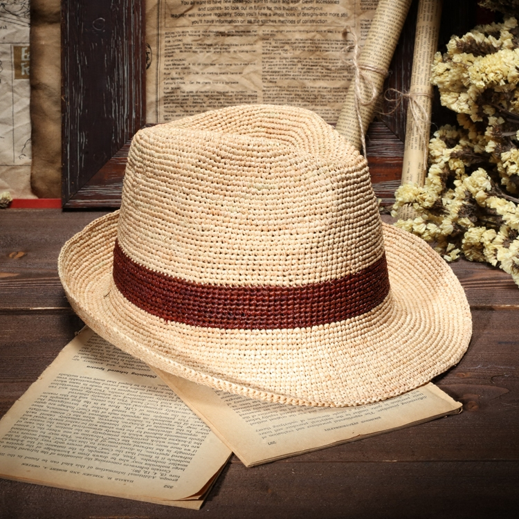 4366686a667384 2017 Summer Mens Panama Hats Handmade Crochet Raffia Fedora Straw Hat Women  Jazz Hat Beach Caps Chapeau Paille-in Men's Sun Hats from Apparel  Accessories on ...