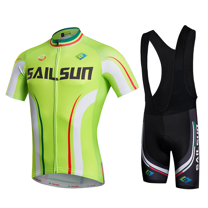 Hot Men Bike Jersey or Cycling Bib Shorts Light Green MTB Team Cycling Top  Black Pro Bicycle Short Sleeve Clothing Breathable 30543f78d