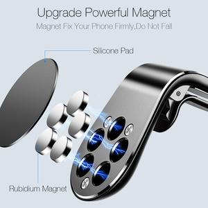 Image 2 - Suntaiho support de téléphone de voiture magnétique L forme évent support de montage pour iPhone X 7 8 Samsung S9 voiture aimant GPS support de téléphone portable